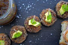 """Mini burgers """"végé"""" aux haricots Azuki et poireaux"""