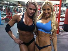 Larissa Reis And Ingrid Romero after a workout
