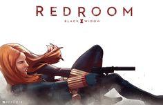 Black Widow Meets SKYFALL — Red Room Art by Jamal Campbell — GeekTyrant