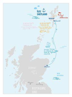 Out Skerries, un archipel écossais situé à 380 km d'Aberdeen dans la mer du Nord