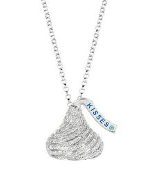Look what I found on #zulily! Diamond & Sterling Silver Swirl Hershey's Kiss Necklace #zulilyfinds