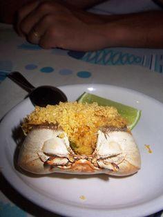 """Brazilian Food """"Casquinha de Caranguejo"""" (crab meat)"""