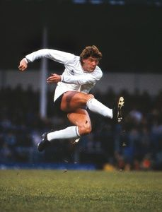 1983. Glenn Hoddle in his pomp for Tottenham Hotspur during a UEFA Cup tie at…