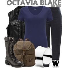 Inspired by Marie Avgeropoulos as Octavia Blake on The 100.