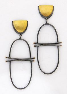 Girona Earrings: Sydney Lynch: Gold & Silver Earrings | Artful Home