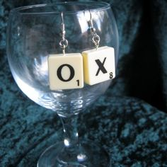 O & X Scrabble earrings - The Supermums Craft Fair