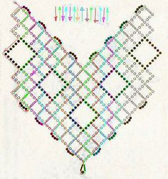 Free pattern for necklace Cherry   U need:seed beads 10/0 – 11/0bugles