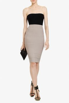 Love the body con dresses and herve leger