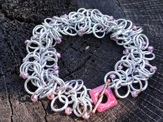 A bracelet for a good cause ... Breast Cancer Awareness Aluminum and Metallic Pink by Dajamana, $55.00