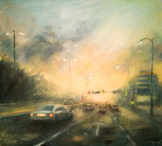 Stormy way home 40 x 44 cm // 15.7 x 17.3 inches Oil on fiberboard Available