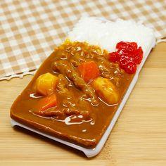 食品サンプル屋さんのスマホケース(iPhone6/6s:カレーライス)【atelier cook】
