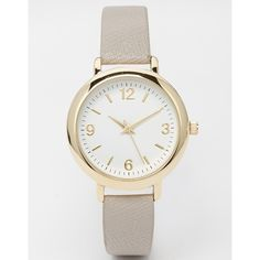 ASOS Textured Mini Watch (£18) found on Polyvore featuring jewelry, watches, grey, asos jewelry, asos watches and asos