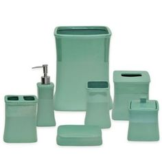 Jessica Simpson Kensley Bath Ensemble in Aqua - BedBathandBeyond.com