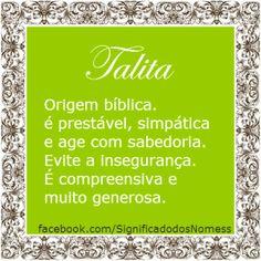 Significado do nome Talita | Significado dos Nomes