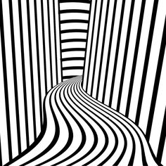Hall Of Lines | op art project for artech | By: H20polo12 | Flickr - Photo Sharing!