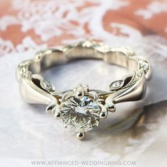 Extreme look white gold engagement ring decorated with center diamond and 6 pcs small diamonds. Gemstone Jewelry, Diamond Jewelry, Gemstone Engagement Rings, Rare Gemstones, Luxury Jewelry, Diva, Sapphire, Diamonds, Fashion Jewelry