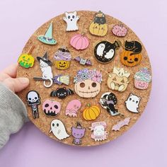 Gorgeous Halloween pin collection @littleleftylou_shop !  Don't forget to shop the seconds sale at the link in bio! Makers are tagged! . . . . . . #pingamestrong #pingame #enamelpins #cutepins #kawaiipins #spooky #pastelgoth #pokemongo #nintendogirl #gameboy #animepins #halloween #halloweenpins #flair