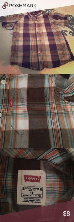 Boys Levi's Button up Shirt Boys Levi's Shirt size 4t, excellent condition, smoke free home Levi's Shirts & Tops Button Down Shirts