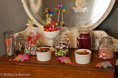 Candy Bar set up for Allie's 3rd birthday party.