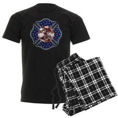 Firefighter USA Men's Dark Pajamas