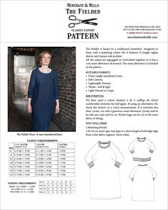 Share with: The Fielder dress and top is based on a traditional sweatshirt. Imagined in our various laundered linens with a matching cotton rib. This is a multi-size paper pattern in an envelope, including sizes 6 – 18. It features three quarter length raglan sleeves and inseam side pockets. We have used a cotton elastane …
