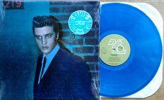 ELVIS PRESLEY - RECONSIDER BABY - RCA AFL1-5418 - BLUE VINYL LP + HYPE STICKER  #RocknRoll