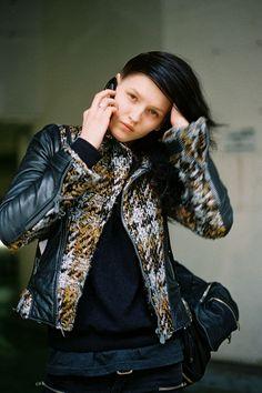 Estonian model Katlin Aas (Marilyn), after Chalayan, Paris, March 2012.  photo: Vanessa Jackman    #HauteSocialiteofParis