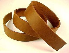 "1"" x 84"" BROWN OIL TANNED Leather Strip 5-6oz LeatherRush..."