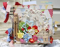"""Mini album using """"Kitch"""" paper. Designs by Mary Hamer"""
