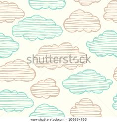 Abstract seamless gentle pattern with clouds. Colorful stylized hand drawn cloudy sky texture on light background - stock vector Photography Props Kids, Photography Supplies, Cloud Photos, Cloud Wallpaper, Backdrop Stand, Painting For Kids, Textured Background, Backdrops, How To Draw Hands