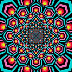 abstract gifs and hippie life are a personal favorites of mine Optical Illusion Gif, Cool Optical Illusions, Art Optical, Illusion Art, Trippy Gif, Trippy Wallpaper, Fractal Images, Fractal Art, Psychedelic Art
