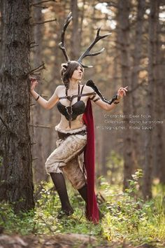 Faun Cosplay by Nana Kuronoma Character Inspiration, Character Art, Character Design, Deer Costume, Halloween Ball, Fantasy Photography, Fairy Dress, After Life, Fantasy Costumes