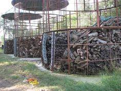 Firewood storage for pyros.