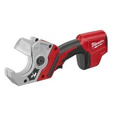 "2470-20 Milwaukee M12 PVC Shear:  Cutting faster, cleaner and closer than tradtional methods, the new M12™ Cordless PVC Shear utilizes a super sharp stainless steel blade for burr-free cuts, slices through 2"" PVC in as fast as 3 seconds, and offers an offset blade to cut PVC mounted to a stud or close to a wall. (Click the image to see our lower than manufacture price)"