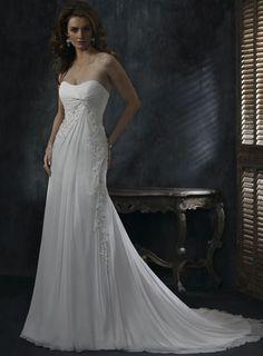Ivory Elegant Strapless Beaded Lace Corset Wedding Dress W1224  $236.39