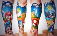 Awesome mario tattoo - 90Kids.com - Childhood Nostalgia
