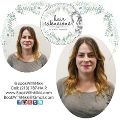 Check out this amazing before and after of my signature hair extensions! You can get hair extensions for length, thickness, pops of color, or all of the above! Check out my website at http://www.BookWithNikki.com for more information. You can also text my assistant at 213-787-HAIR if you have any questions. #fullerton #downtownfullerton #orangecounty #calstatefullerton #fullertoncollege #anaheim #longhair #hair #hairextensions #extensions #hairinspiration #behindthechair #americansalon…
