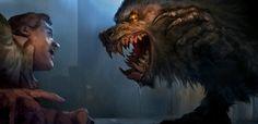 Werewolf is going to feast