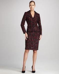 Tweed Jacket & Skirt Set - Kay Unger - like the fit.