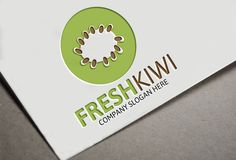 Fresh Kiwi Logo by josuf on Creative Market