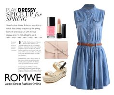 """""""Romwe III/7"""" by m-senka ❤ liked on Polyvore featuring M.N.G and Lancôme"""