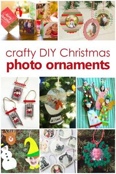 crafty diy christmas photo ornament crafts kids can make christmas decorations for kids photo christmas - Christmas Decorations Pinterest Handmade