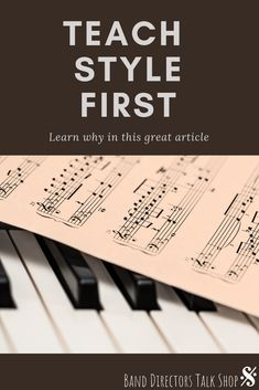 Do your students learn the notes, but seem to have a hard time playing musically? If yes, this article is for you! Teach style first. Music Lesson Plans, Music Lessons, Piano Teaching, Teaching Tips, Music Classroom, Music Teachers, School Classroom, Classroom Ideas, Middle School Music