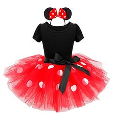 YiZYiF Baby Kinder Mädchen Kleid Karneval Halloween #Kostüm festlich Partykleid Cosplay Kleidung Festzug Gr. 80-128 Rot 104 #Disney