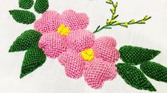 Hand Embroidery: Padded Lace Stitch