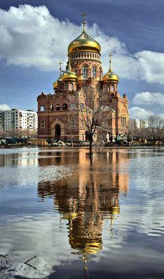 Orenburg, Russia - love me some russian churches