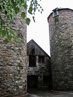 2 old stone silos