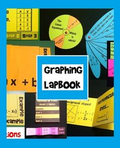11 minibooks for Algebra INB or lapbook. Covers all the important topics related to graphing in Algebra 1.