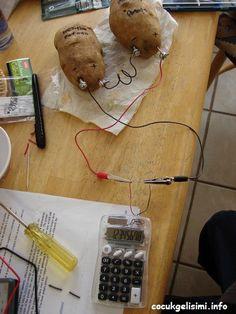 Patatesle pil yapmak bu kadar kolay olmamıştı. Patatesten nasıl elektrik ürettiğini daha önce deneyler yapıp bulunduğunu hepimiz biliyoruz Patatesin içerisine çivi ve bakır telleri batırıp ,hesap m…