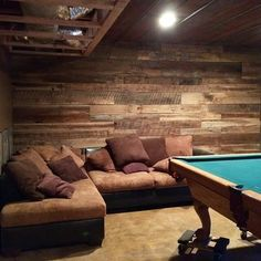 Our barnwood accent wall :-D